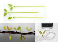 Leaf Tie — Cord Management -- Better Living Through Design