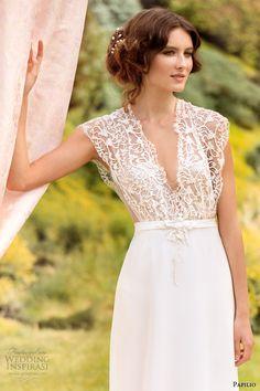 papilio wedding dresses 2014 eleonora gown v neck lace bodice