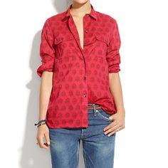 Madewell+-+Ex-Boyfriend+Shirt+in+Redleaf+Paisley