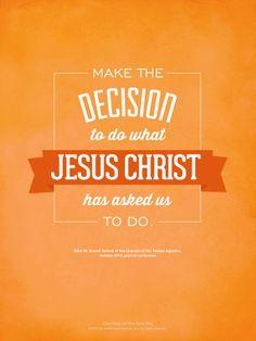LDS quote. Elder M. Russell Ballard invites us to live Christ's teachings.