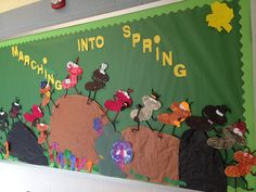 School bulletin board for Spring
