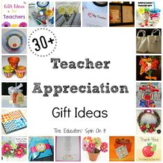 The Educators' Spin On It: 30+ Ways to Say Thank You for Teacher Appreciation Week teacher gifts, gift ideas, teacher appreciation gifts, diaper cakes, gift cards, appreci gift, appreci week, teachers, art walls
