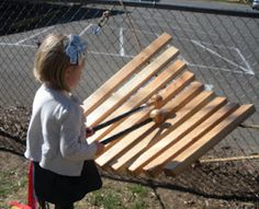 Another idea for DIY outdoor xylophone