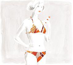 Amiral Thalassa  Hermes two-piece swimsuit in orange jersey  Ref. 223205DYM138  $530.00