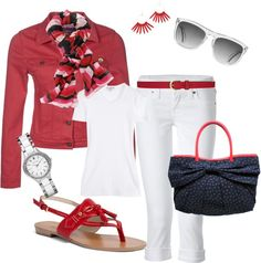 """""""Punch of Red"""" by heather767 on Polyvore"""