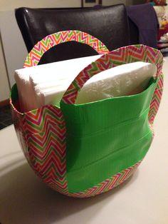 Tide pods container turned basket napkin holder