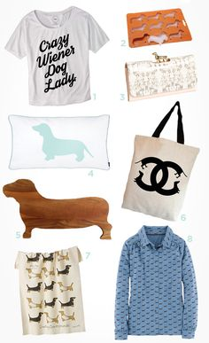 Fun dachshund items from Sugar and Charm