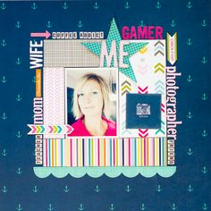 #papercraft #scrapbook #layout.  About Me ~ Bella Blvd - Scrapbook.com - Don't forget to scrap yourself!