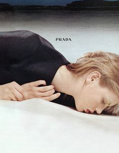 angela lindvall by norbert schoerner for prada fall campaign 1998.