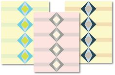 Square Chains- a modern quilt panel great for free-motion quilting!