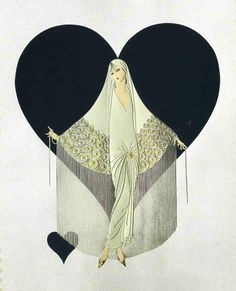 June Bride Art Deco by Erte
