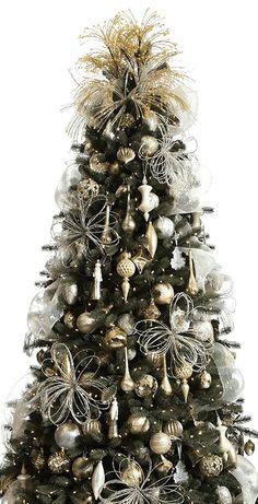 holiday, christma treei, beauti christma, beautiful christmas trees, gold christmas