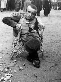 Auschwitz-Birkenau, Poland, A Young Disabled Person Deemed Unfit for Labor, After the Selection
