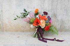 Beautiful, bright wedding bouquet: http://www.stylemepretty.com/2014/05/05/spanish-style-wedding-inspiration/ | Photography: Charla Storey - http://www.charlastorey.com/