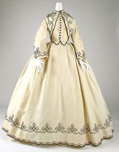 Promenade dressDate: 1862–64 Culture: American Medium: cotton