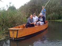 Susanna Wriston with George & Pat Edmonds on the Sile' river tour in the Oasi Cervara wildlfe preserve in Treviso Province in Italy