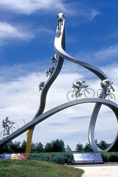 Italian Bicycle Monument sculptures, bicycles, italian bicycl, italian bike, france, bicycle art, bike art, italy, bicycl art