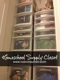 Organizing school supplies