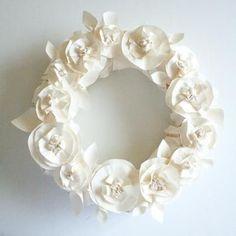 Butcher Paper Wreath ~ Tutorial