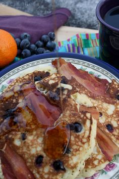 Homemade Pancake Mix + Brown Butter Blueberry Bacon Pancakes