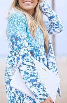 Blue Floral Jacket