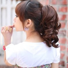 NEW Stylish Curly Ponytail Extension Long Claw Clip on Layered Hair Piece - $8.99 hair addit, 16 inch, princess natur, hair extens, wig wrap, hair style, natur ponytail, beauti princess, bang