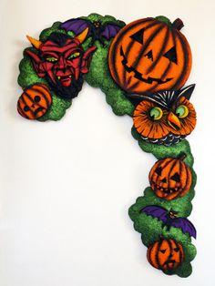 Halloween Folk Art Carving  Jack'O'Lantern JOL by bobscottartwork, $225.00