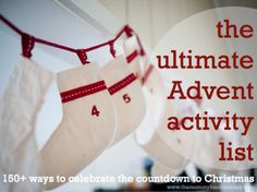 100+ Advent or Christmas countdown activities in different categories (crafting, cooking, faith-based, serving, winter, summer, outings...
