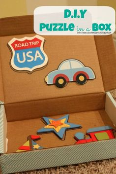 School Time Snippets: DIY Puzzle in a Box {Fine Motor Friday} Pinned by SOS Inc. Resources http://pinterest.com/sostherapy.