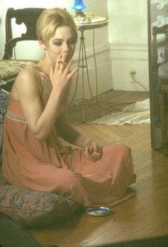 edie sedgwick if you dont know her look her up or watch the movie factory girl which is a movie about her