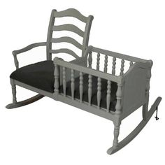 absolutely brilliant! rocking chair + crib. this may be the best parent invention ever.
