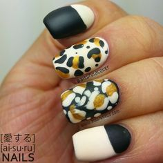 Aisuru Nails: Inverted Leopard nails