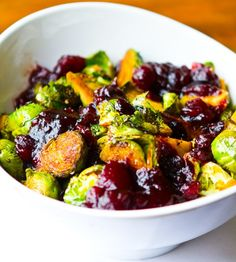 Cranberry Balsamic Brussel Sprouts from Healthy Happy Life