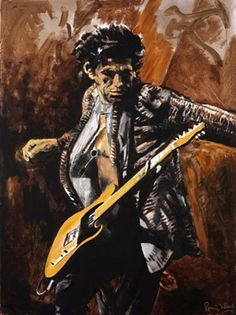 Keith Richards by Ronnie Wood Cool painting by Ronnie