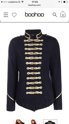 Navy and gold admira