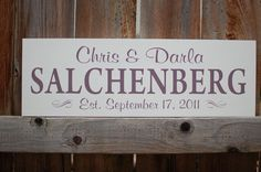 Personalized Family Name Sign Painted Custom Wood Sign