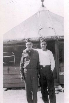 Donald Hoobler with an unidentified soldier.