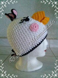 Gorro tejido de MATILDA (la pájara blanca de Angry Birds)