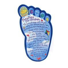 "Footprints for Children Plaque, $20.95. Customer review: ""My grandsons got this for their baptism. I love it! Perfect gift. I have always loved the original poem. The plaque itself is so cute. just right for a nursery/child's room."""