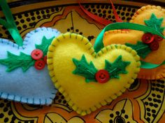 Fun sewing ornaments with kids :)