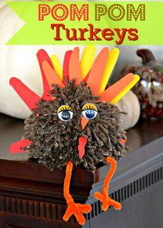 Pom Pom Turkeys