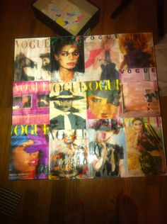 vintage vogue makeup table for my closet/getting ready area. @Courtney Wilkerson
