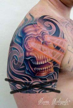 Juan Salgado - Skull Half Sleeve