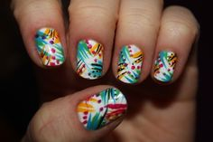 Simple design and totally awesome polish-nails