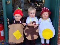 homemade costumes, breakfast food, costume halloween, kid, homemade halloween costumes