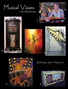 Just some of the art shown at the Gallery Main Street in Tyler, Texas.
