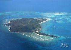 Aerial view of Palomino Island part of El Conquistador Resort & Las Casitas Village - private island. Puerto Rico!  ElConResort.com LasCasitasVillage.com
