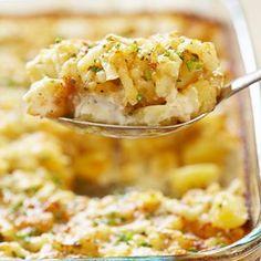 Delmonico Potatoes with Parmesan and Garlic