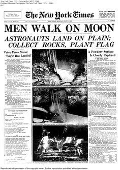 Men Walk On Moon, 1969.  Buzz Aldrin & Neil Armstrong.