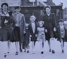 Mothers and their children - 1940s